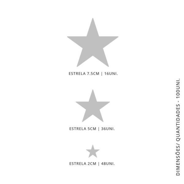 Vinil Decorativo Estrelas - 100 unidades