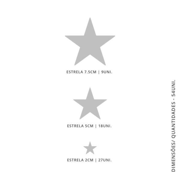 Vinil Decorativo Estrelas - 54 unidades