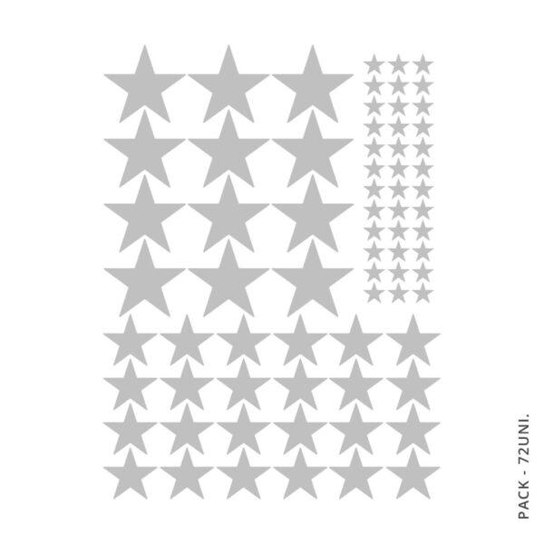 Vinil Decorativo Estrelas - 72 unidades