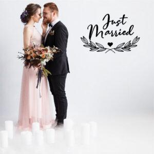 Vinil decorativo Just Married